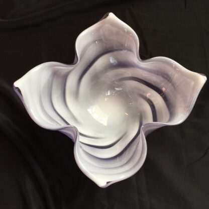 Large Murano Glass bowl, purple & white, mid 20th century-26119