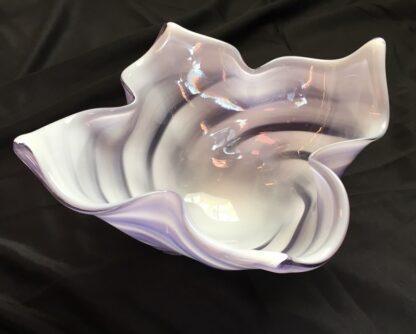 Large Murano Glass bowl, purple & white, mid 20th century-26122