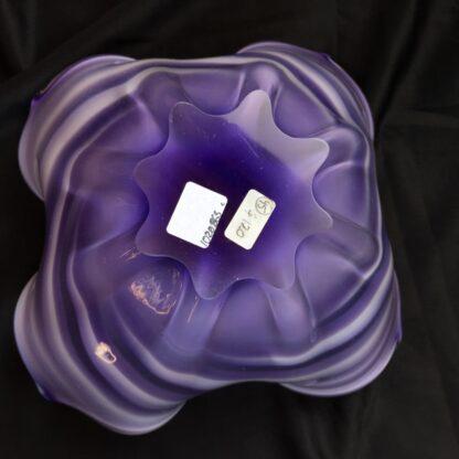 Large Murano Glass bowl, purple & white, mid 20th century-26125