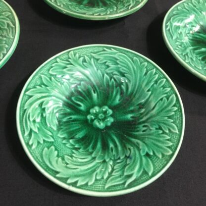 Set of four small majolica plates C. 1870-25434