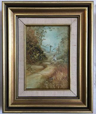 Lucette DaLozzo oil painting - 'My little world' c.1975-0