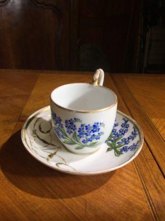 Biedermeier coffee cup & saucer, Schlaggenwald, C. 1820 -0