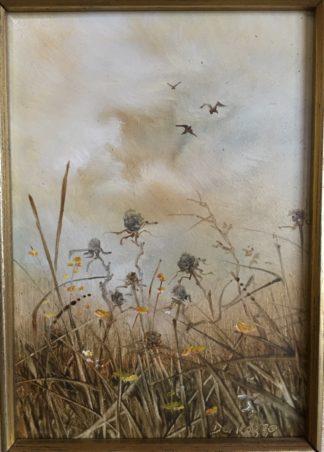 Lucette DaLozzo oil painting - 'Thistles' c.1975-0