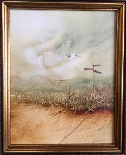 Lucette DaLozzo oil painting - 'Migratory Bird' c.1975-0