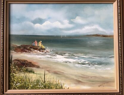 Lucette DaLozzo oil painting - 'Beachside Holiday' c.1975-0