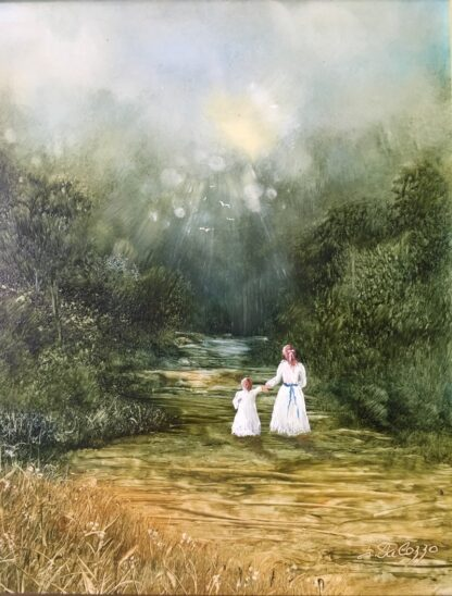 Lucette DaLozzo oil painting - 'Pathway to Enchantment' 1978-0