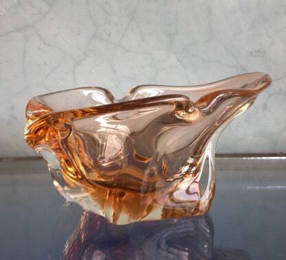Murano Glass bowl in amber, mid 20th century-25948