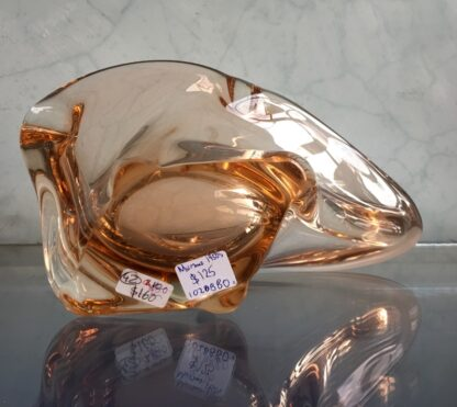 Murano Glass bowl in amber, mid 20th century-25950