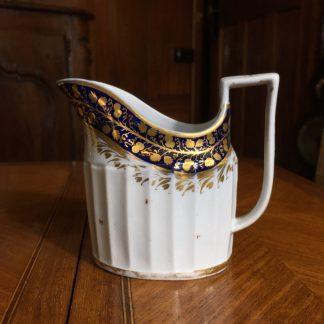 John Rose Coalport milk jug, Hamilton flute, c.1800 -0