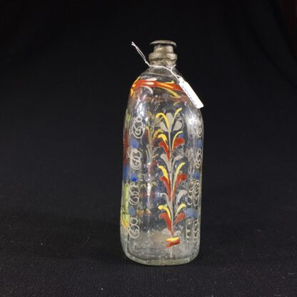 German glass flask enamelled with verse & figure, c. 1730-25993