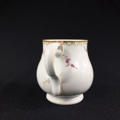 Furstenberg custard cup painted with chickens, c. 1765-25990