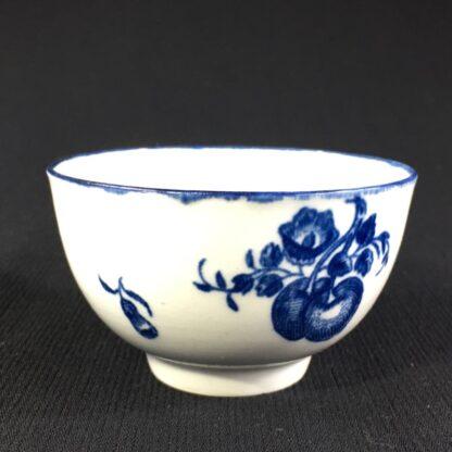 Worcester teabowl, 'Fruit Sprigs' pattern print in blue, c.1780-26045