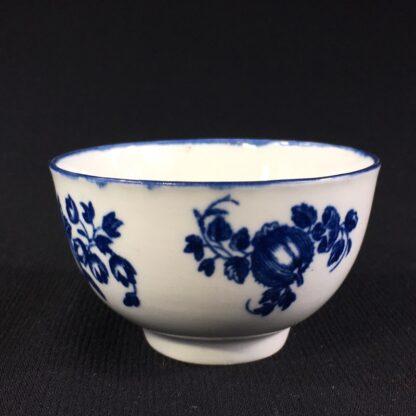Worcester teabowl, 'Fruit Sprigs' pattern print in blue, c.1780-26046