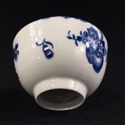Worcester teabowl, 'Fruit Sprigs' pattern print in blue, c.1780-26047