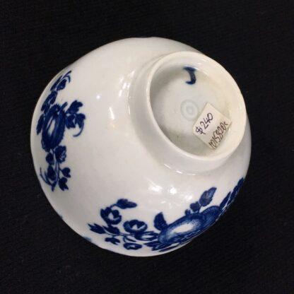 Worcester teabowl, 'Fruit Sprigs' pattern print in blue, c.1780-26050