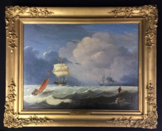 John Lynn 'Reef Breeze' , oil on canvas signed & dated 1827-0