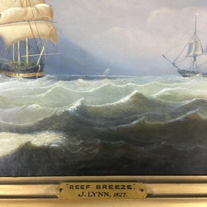 John Lynn 'Reef Breeze' , oil on canvas signed & dated 1827-25963