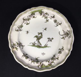 French Faience plate, Chinoiserie bird, Moustiers, c.1750-0