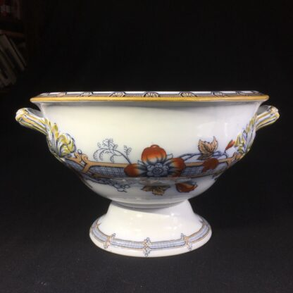 English pottery tureen, 'Florilla' pattern by T. Till & Son, c. 1855-0