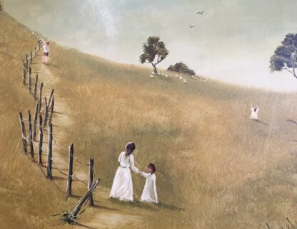 Lucette DaLozzo oil painting - 'along the Old Bush Track' c.1975-26195