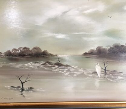 Lucette DaLozzo oil painting - 'Lonely Bird' c.1978-26219