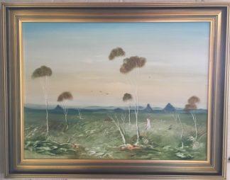 Lucette DaLozzo oil painting - 'Glasshouse Mountains' 1977-0