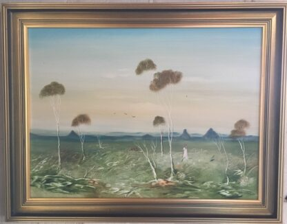 Lucette DaLozzo oil painting - 'Glasshouse Mountains' 1977-0