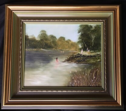 Lucette DaLozzo oil painting - 'Bathers' c.1975-0