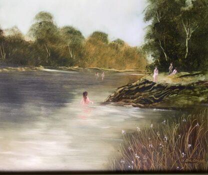 Lucette DaLozzo oil painting - 'Bathers' c.1975-26207