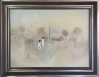 Lucette DaLozzo oil painting - 'wildflowers pickers' 1977-0