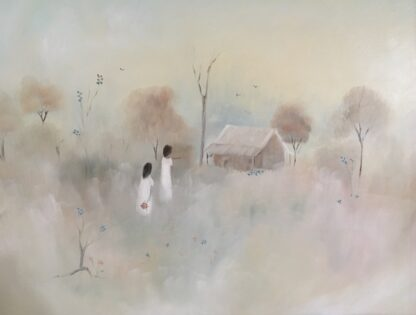 Lucette DaLozzo oil painting - 'wildflowers pickers' 1977-26215