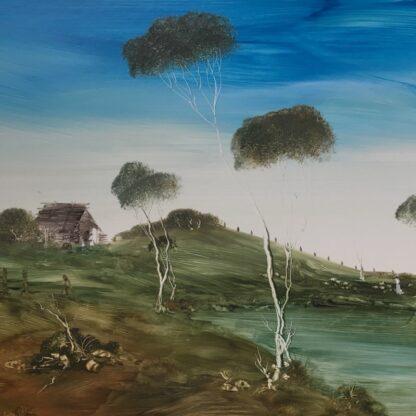 Lucette DaLozzo oil painting - 'Billabong picnic' 1977-26190