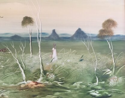 Lucette DaLozzo oil painting - 'Glasshouse Mountains' 1977-26186