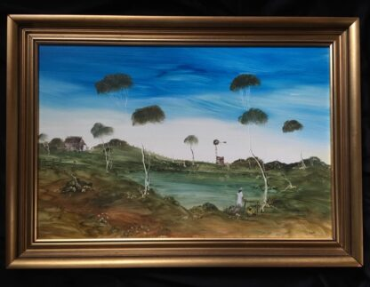 Lucette DaLozzo oil painting - 'Billabong picnic' 1977-0