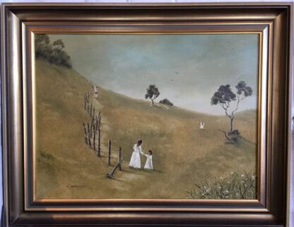 Lucette DaLozzo oil painting - 'along the Old Bush Track' c.1975-0