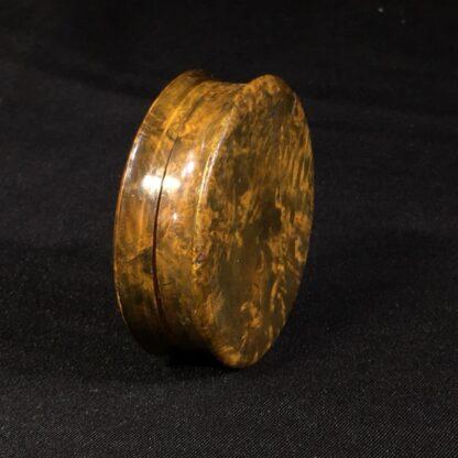 Treen & Tortoiseshell commemorative snuffbox, Duke of York medallion, c. 1820 -26990