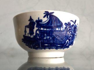 Worcester waste bowl, printed 'Fisherman' pattern & disguised mark, c. 1770-0