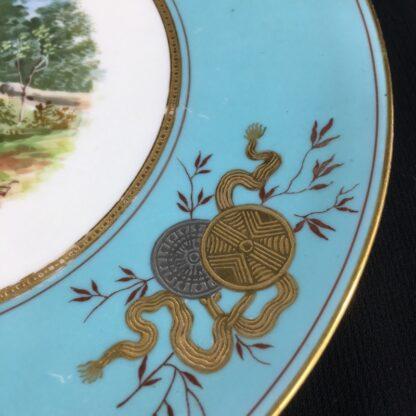 Wedgwood bone china plate, country bridge scene, c.1870 -26381