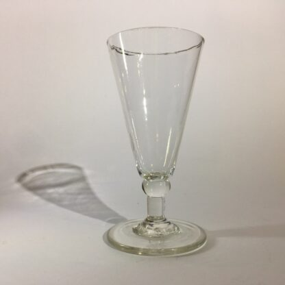 Late Georgian ale glass, straight sides, c. 1790-26376