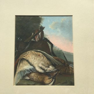 Gouache of a day's hunt, 19th century -0