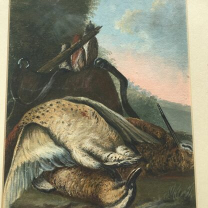 Gouache of a day's hunt, 19th century -26693
