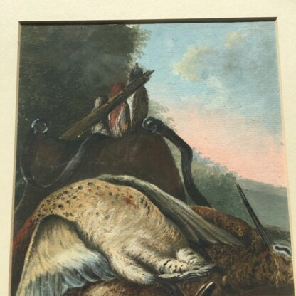 Gouache of a day's hunt, 19th century -26695