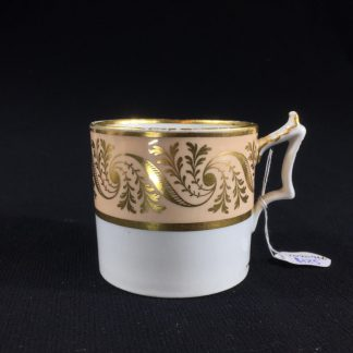 Flight Barr & Barr coffee can, gilt & peach, c. 1820-0