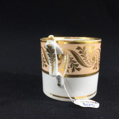 Flight Barr & Barr coffee can, gilt & peach, c. 1820-26525