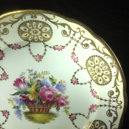 Copeland Spode plate with flowers, for David Collamore & Co, early 20th century-27167