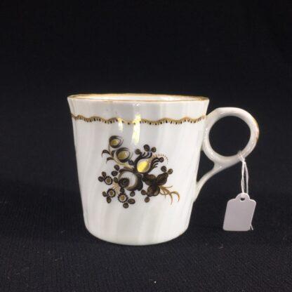 Flight Worcester coffee can, brown flower pattern, c.1790-26520
