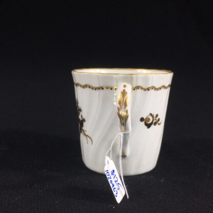 Flight Worcester coffee can, brown flower pattern, c.1790-26515