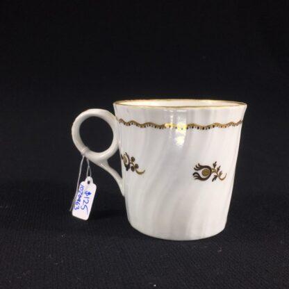 Flight Worcester coffee can, brown flower pattern, c.1790-0
