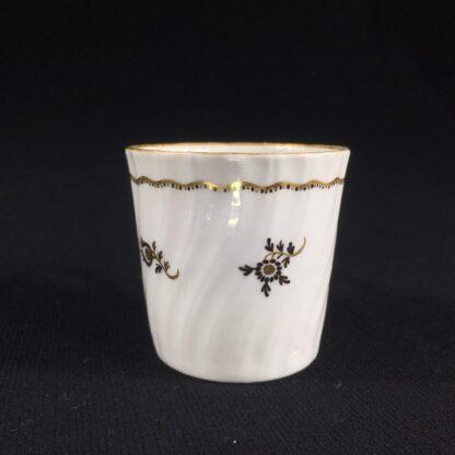 Flight Worcester coffee can, brown flower pattern, c.1790-26519