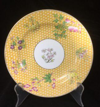 Wedgwood bone china plate, 'honeycomb' & flowers, c.1815 -0